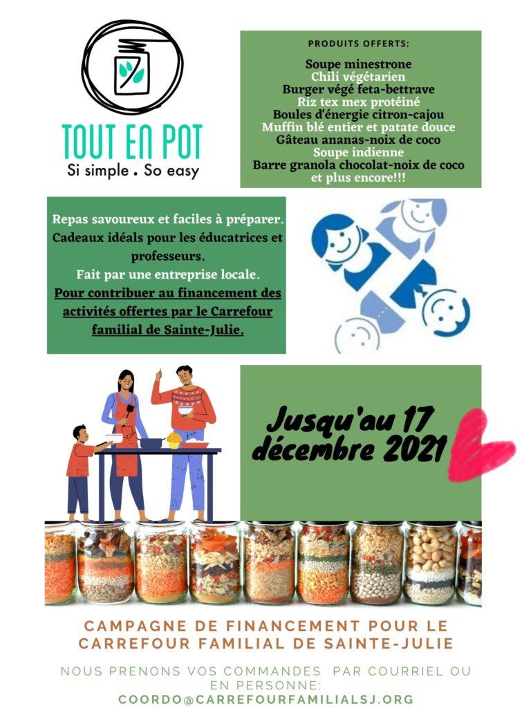 Campagne de financement pour le Carrefour familial